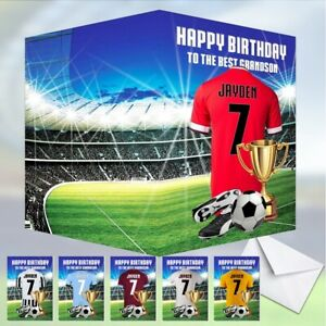 Football PERSONALISED Birthday Card Daughter Son Grandson Brother Nephew dad