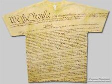 XXL We the People US Constitution shirt with a subtle tie dye in the background