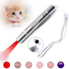 7 in 1 Cat Laser Pointer Toy USB Powered Laser Pen Torch UV Light