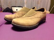 merrell brown leather shoes Slip On Women's Size 9 Casual comfort walking oxford