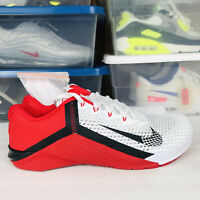 Nike Metcon 6 Cross Training White Red CK9388-196 Men's Size 10.5 New