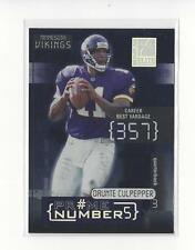 2001 Donruss Elite Prime Numbers #PN5A Daunte Culpepper Vikings /300