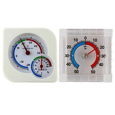 2pcs Plastic Mechanical Thermo-Hygrometer & Stick-on Outdoor Window Thermometer