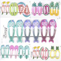 6PCS Girls baby Hair Clips Snaps Hairpin Girls Baby Kids Hair Bow Accessory HOT