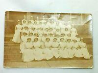 Vintage Postcard RPPC Photo of Nurses at Hospital