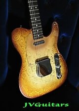 JVG Luthier built PAISLEY T AGED electric guitar proudly made in USA   JVGuitars