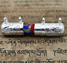 Traditional Tibetan Silver Tone Copper Gau Ruel Amulet Casing Case Housing Cover