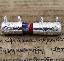 Traditional Tibetan Silver Tone Copper Gau Ruel Amulet Casing Case Housing Cover