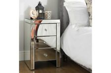 Clean Contemporary and Chic 3 Drawer Bedside Table With Beautiful Bevelled Edges
