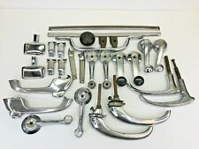 Vintage Lot Car Truck Door Handles Window Cranks Latches Chrome Parts