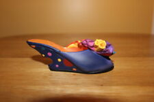 "Just The Right Miniature Shoe "" Rio "" Flowery design item #25080 box Coa 1999"
