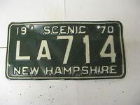 1970 70 New Hampshire NH License Plate LA714 Scenic
