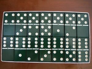 VERY RARE OLD SET OF DARK GREEN SPINNER DOMINOES - EVERLAST BY CARDINAL