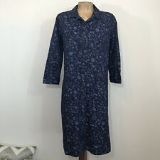 Gap Maternity Shirt Dress Sz XS 100% Cotton Button Down Floral Side Slits 3/4 Sl
