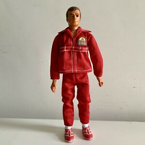 Six Million Dollar Man New Replacement Red Tracksuit Outfit And Socks Set Bionic