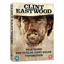 Clint Eastwood Westerns Pale Rider/The Outlaw Josey Wales/Unforgiven - DVD New