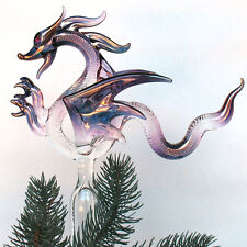 Dragon Christmas Tree Top Topper Blown Glass Ornament