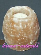 HIMALAYAN Natural Crystal SALT Votive CANDLE HOLDER - Large Pink - Aloha Bay