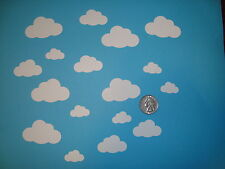 50 WHITE CLOUD DIE CUTS PUNCHES 3 SIZES CLOUD CONFETTI BABY SHOWER CONFETTI