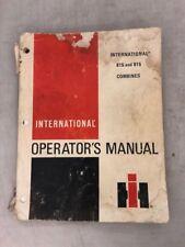 international operator's manual 815 & 915 combines