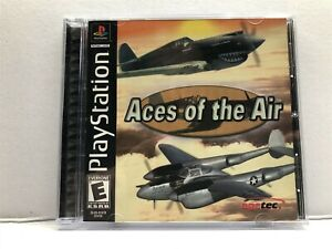 Aces of the Air (Sony PlayStation 1, 2002) Complete w/ Manual - Tested Working