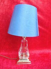 edle Tischlampe   ,   Glas - Messing   , Nachtmann !