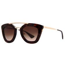 Prada SPR 09Q Cinema 2AU-6S1 Havana Brown Gold Women's Cat Eye Sunglasses