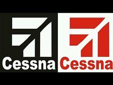 "2 Cessna Logo decals 9"" choose Many colors door fridge car truck console decal"