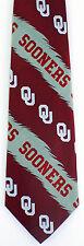 Oklahoma Sooners Mens Silk Necktie University College Logo Red Neck Tie New