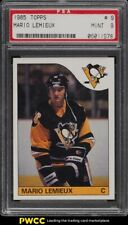 1985 Topps Hockey Mario Lemieux ROOKIE RC #9 PSA 9 MINT