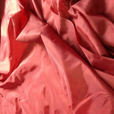 10 MTRS 60 inch wide cherry red 2oz,nylon,material,lining, backing, dress fabric