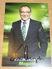 Autogrammkarte Felix Magath, Vfl Wolfsburg 2010/2011, FC Schalke 04, FC Bayern
