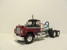 1ST GEAR 1/64 SCALE R MODEL MACK, DAY CAB, MAROON, BLACK & SILVER  (DCP SCALE)