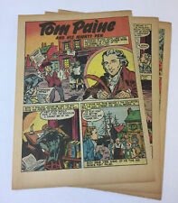 1946 six page cartoon story ~ THOMAS PAINE