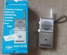 Vintage LAFAYETTE 7 Transistor 2 Channel Walkie Talkie Model HA-73B & Box