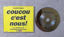 """CD AUDIO MUSIQUE / COUCOU C'EST NOUS! """"LE GÉNÉRIQUE"""" CD MAXI-SINGLE 1993 4T"""
