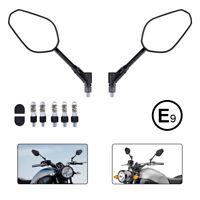 Motorrad Lenkerspiegel Paar E-geprüft Universal Spiegel für BMW Kawasaki Honda