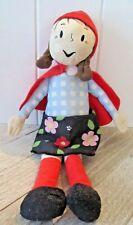 "IKEA Lillgammal Little Red Riding Hood Plush Doll 13"" W/ Removable Cape"