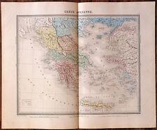 Carte de la GRECE ANCIENNE -1874. 43 x 53 cm.