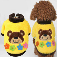 Winter Pet Dog Sweater Poodle Clothing Hoodie Small Cat Puppy Coat Jacket XS-XL