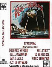 Jeff Wayne The War Of The Worlds CASSETTE 2  ONLY ALBUM  Prog Rock Experimental