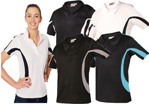 Ladies Polo Shirts Short Sleeve T-Shirt Womens Gym Sports Top  Wicking golf Tee