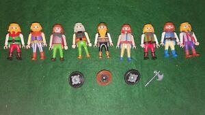 Vintage Playmobil Viking Figures with Accessories Bundle