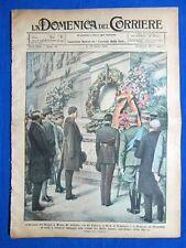 La Domenica del Corriere 16 aprile 1922 Milite Ignoto - Aereo - Treno elettrico