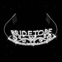 Bride to Be Crown Rhinestone Tiara Premium High Quality Metal Bachelorette Party
