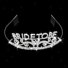 Bride to Be Crown Rhinestone Tiara Premium High Quality Metal Bachelorette Party