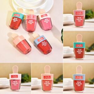 Korean Ice Cream Shaped Matte Liquid Lip Gloss Cosmetics Makeup Long Lasting Red
