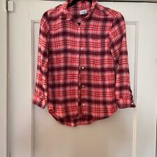 Old Navy Girl's Pink Plaid Flannel Shirt-XL (14)-EUC
