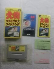 SFC SNES Super Famicom Oomono Black Bass Fishing Japan Import