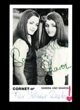 Sandra und Sharon Autogrammkarte Original Signiert ## BC 154777